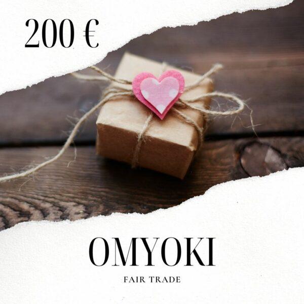 Carte cadeau bijoux de créateur 200 €