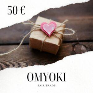 Carte cadeau bijoux équitables 50 €
