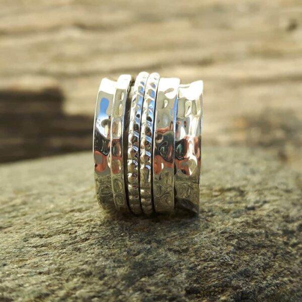 Anillo en plata martillada - Anillos 4