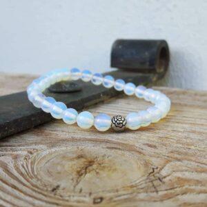 Bracelet mala en pierre de lune