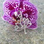 Pendentif fleur de lotus en argent