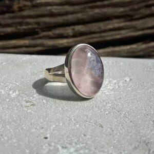 Bague quartz rose argentDOUCEUR