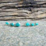 Boucles d'oreilles turquoise earlobe