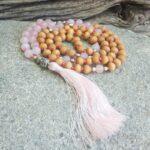 collier mala en quartz rose Douceur