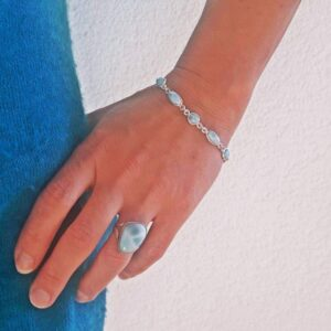 Bracelet argent larimar TIT' BALEINE