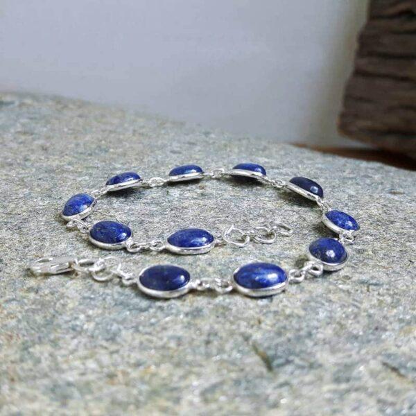 Bracciale lapislazzuli in argento