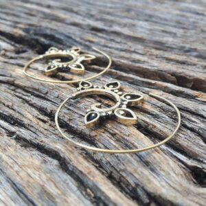 Boucles d'oreilles spirales dorées