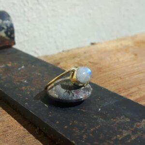 Bague pierre de lune or JANIS