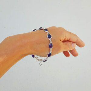 Bracelet améthyste en argent