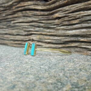 Jonc ouvert turquoise or GEO