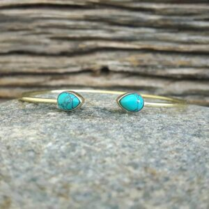 Jonc turquoise gouttes