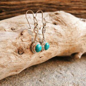 Boucles d'oreilles ethniques en turquoise