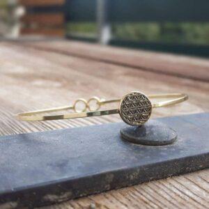 Bracelet jonc fleur de vie