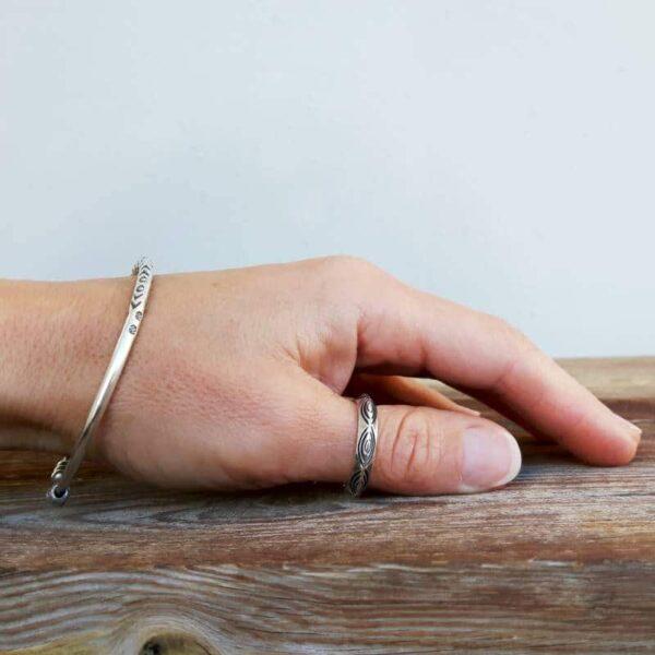 Bracciale in argento ETNIK