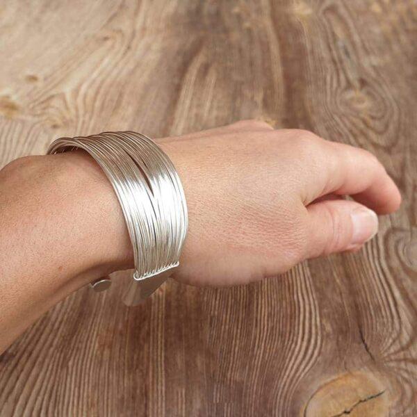 Bracelet jonc multiple argent