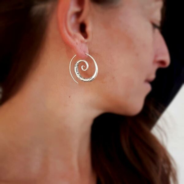Boucles d'oreilles spirales argent