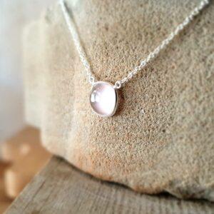 Collier chaîne quartz rose MILO