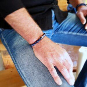 Bracelet homme lapis lazuli ABYSSE