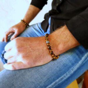 Bracelet homme oeil de tigre SURAKSA
