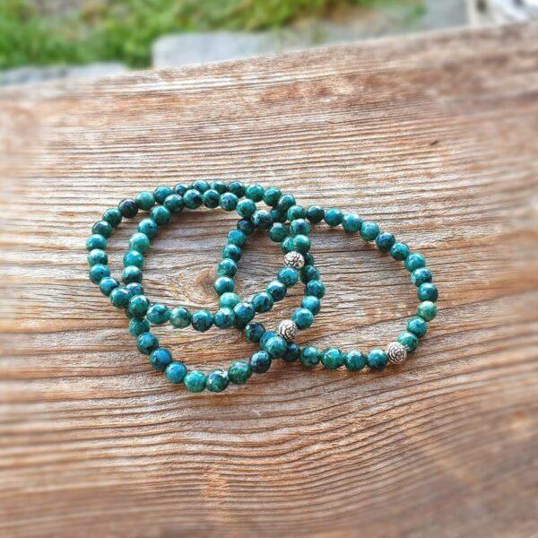 Bracelet en jaspe vert BIEN-ÊTRE