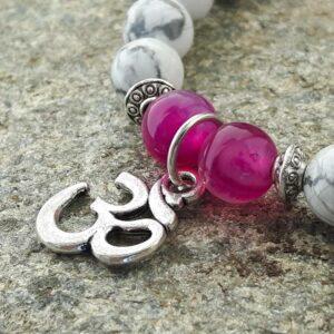 Bracelet en howlite et agate