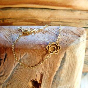 Bracelet fleur de lotus or
