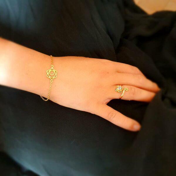 Gold Lotusblumenarmband