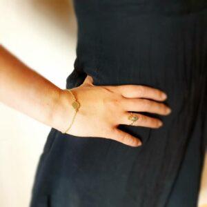 Bracelet fleur de vie or