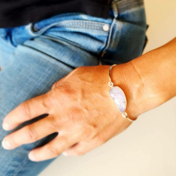Bracciale in argento pietra di luna VAGO