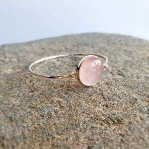 Bracelet quartz rose argent AMOUR
