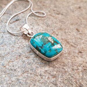 Pendentif turquoise naturelle TIBET