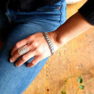 Bracelet indien argent PAON
