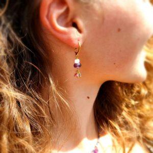Boucles d'oreilles améthyste BYZANTINE