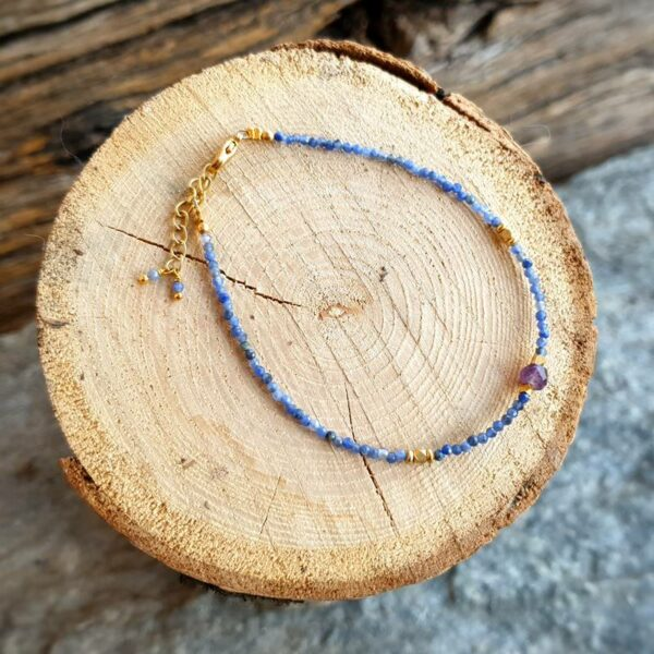 Bracelet sodalite et améthyste BYZANTINE
