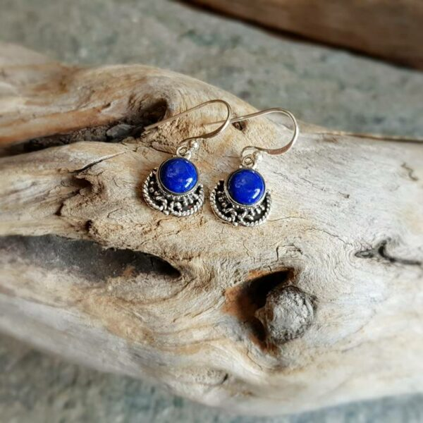 Boucles d'oreilles indiennes en lapis lazuli